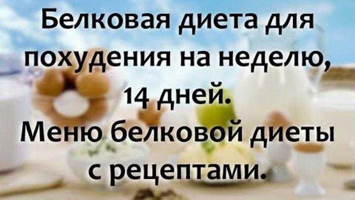 Белковая диета. меню на 7 и 14 дней