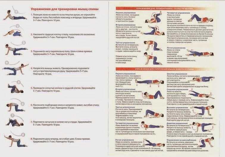 Упражнения помогающие избавится от боли в пояснице и спине. какие упражнения нельзя делать при боли в пояснице | жл