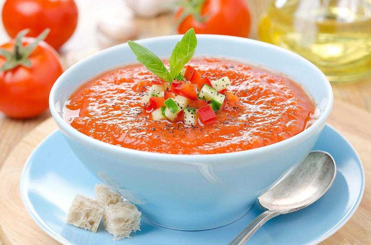 Гаспачо - испанский холодный суп: пошаговый рецепт