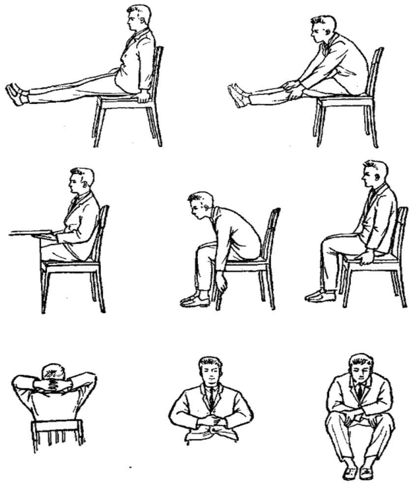 Гимнастика и разминка в офисе. упражнения в офисе - вмоменте
