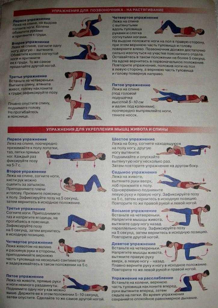Упражнения при болях в пояснице: самые эффективные комплексы тренировок в домашних условиях для спины и позвоночника