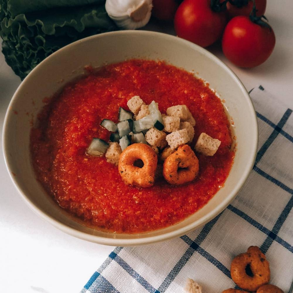 Классический томатный суп гаспачо в домашних условиях, рецепт с фото — wowcook.net