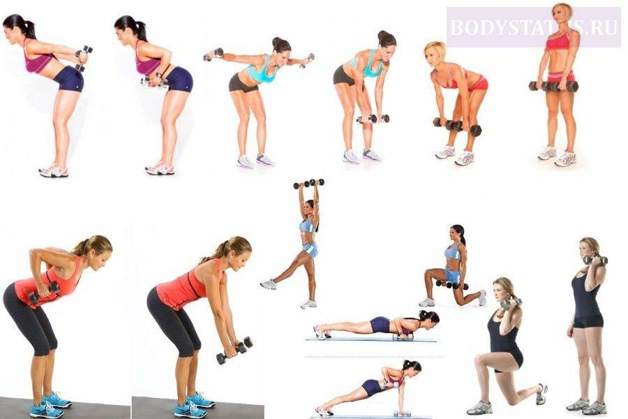 Как использовать гантели для похудения женщинам: комплекс упражнений в домашних условиях