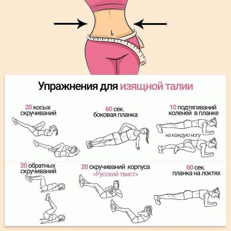 Упражнения для тонкой талии, боков и плоского живота: комплекс из 5 упжанений