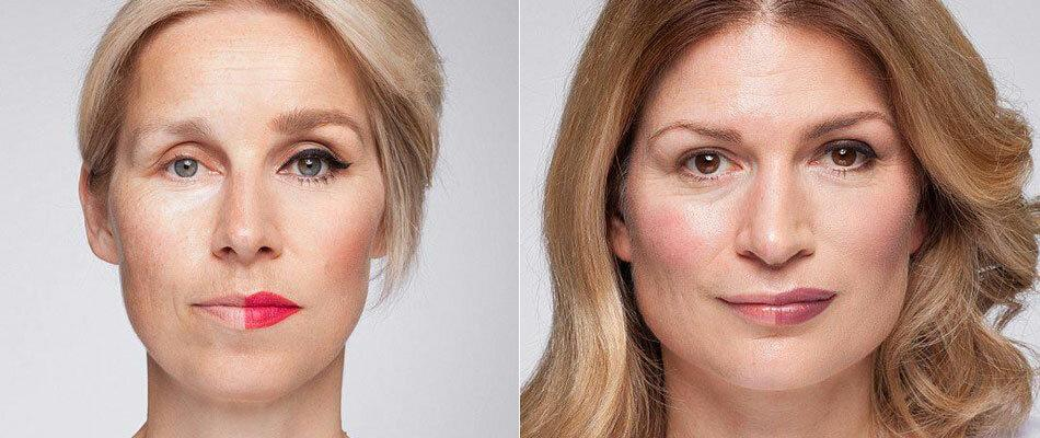 Антивозрастной макияж пошагово: фото до и после