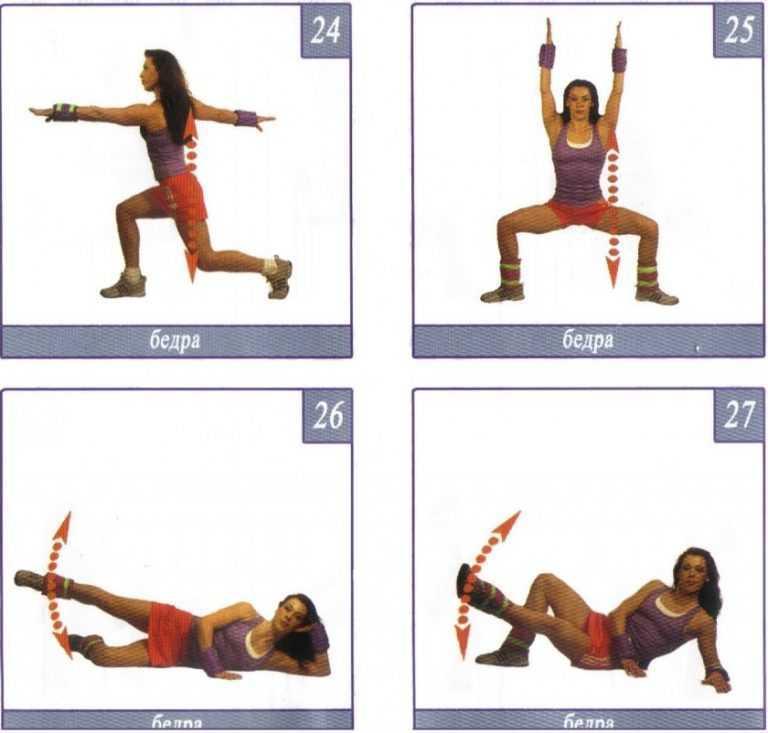 Упражнения с утяжелителями в домашних условиях: эффективные комплексы занятий для ног, ягодиц, бёдер, рук, на пресс, видео