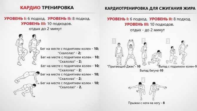 Топ-30 кардио-упражнений в домашних условиях (фото)