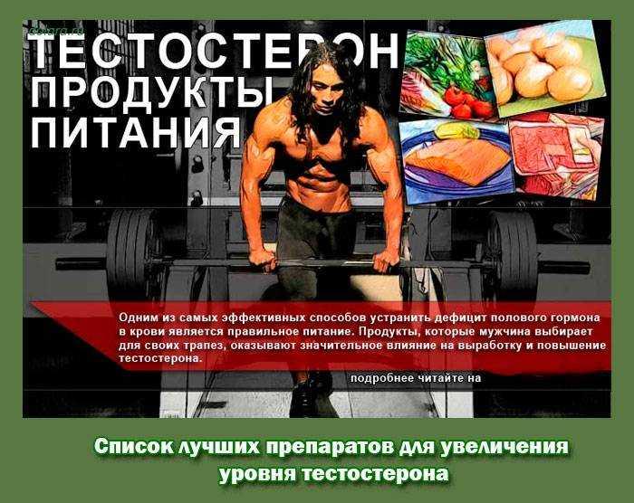 Продукты, повышающие тестостерон: у мужчин и женщин, после 40 и 55, список лучших