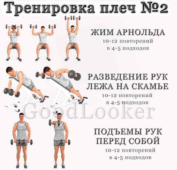 Это подборка лучших упражнений на плечи (дельты) с гантелями для спортзала и для домашних условий ФОТО + техника выполнения + на что обратить внимание