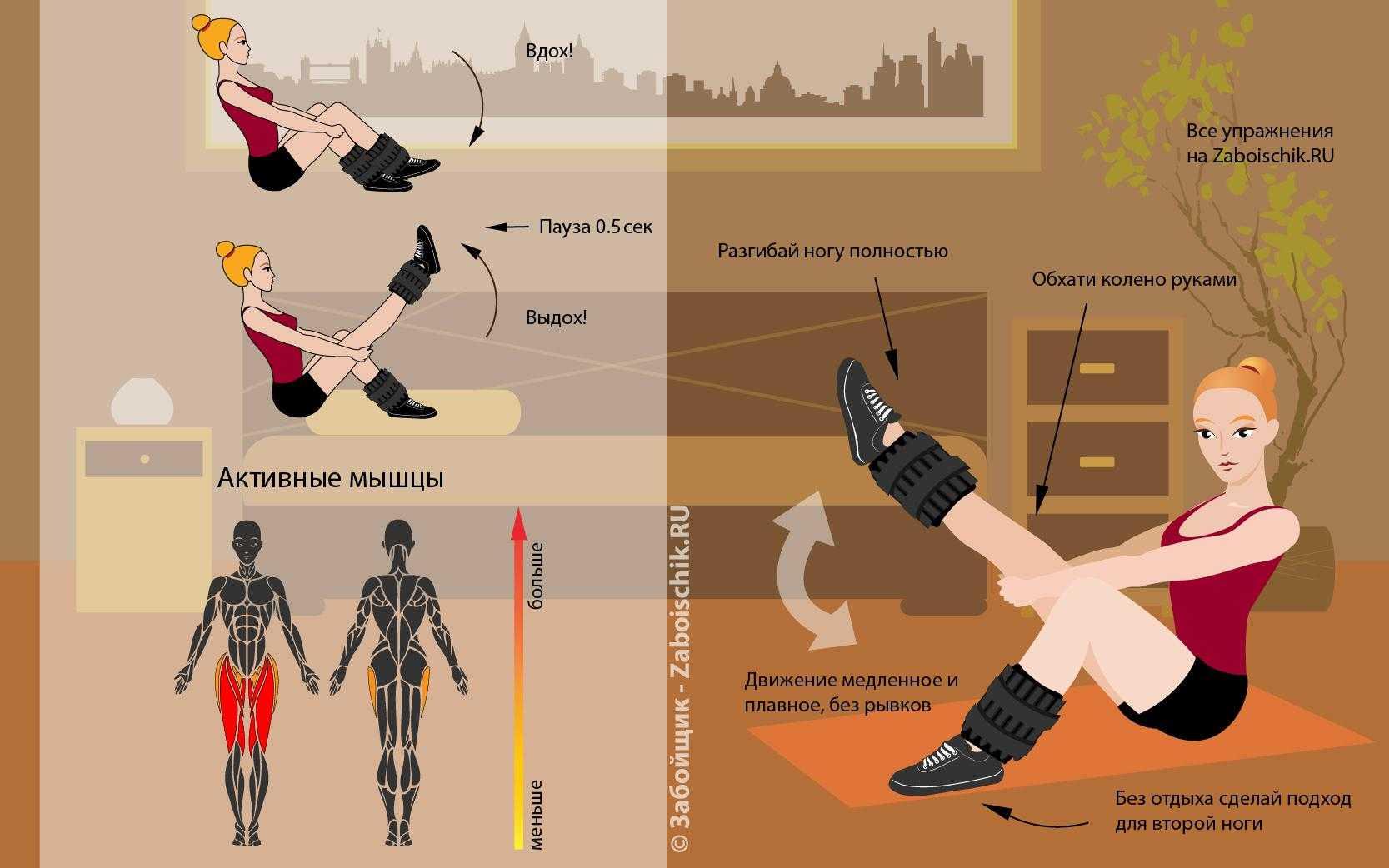 Какие упражнения делать с утяжелителями - правильное питание