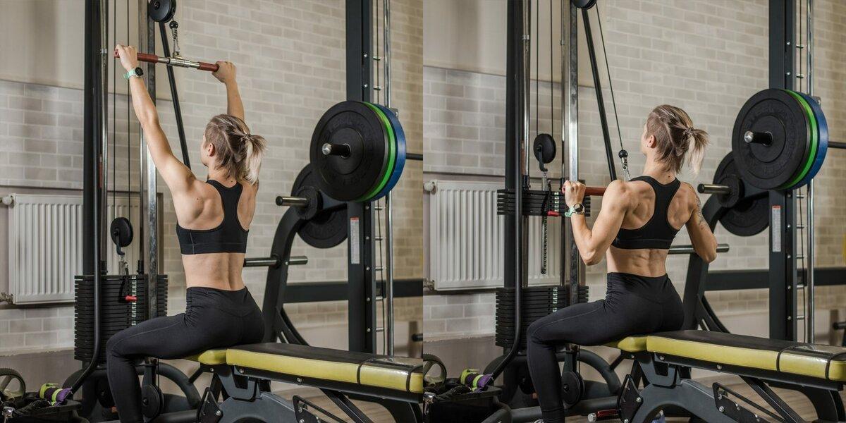 Силовая тренировка Кейт Фридрих для мышц груди и спины