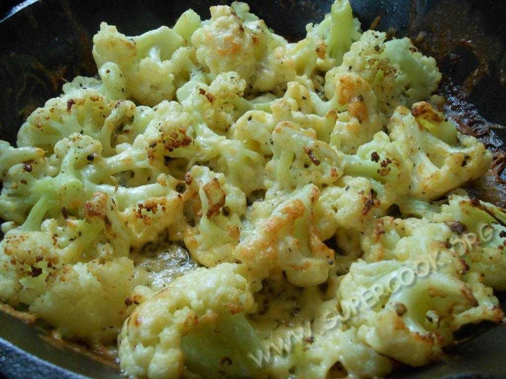 Запеченная цветная капуста в духовке с сыром - 37 рецептов - 1000.menu