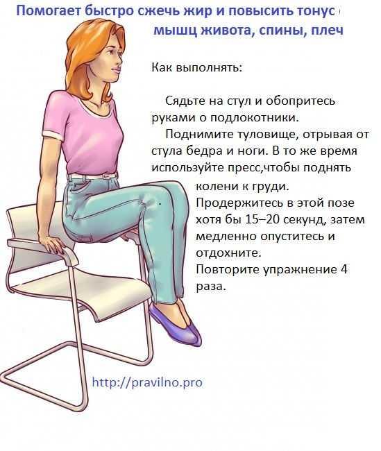Как похудеть на работе: программа похудения, 18 упражнений