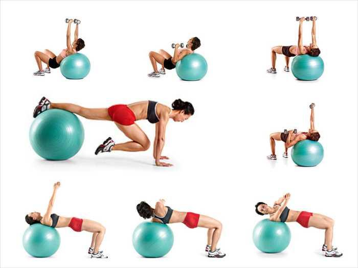 Фитбол для похудения: эффективность и упражнения