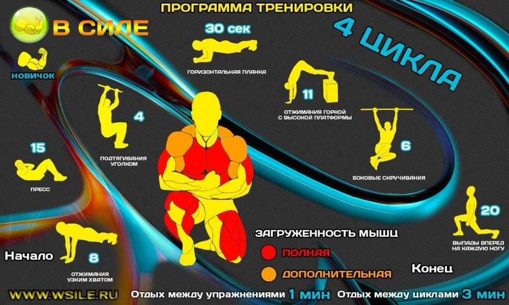 Комплексная тренировка для мужчин в домашних условиях, программа тренировок для дома | rulebody.ru — правила тела