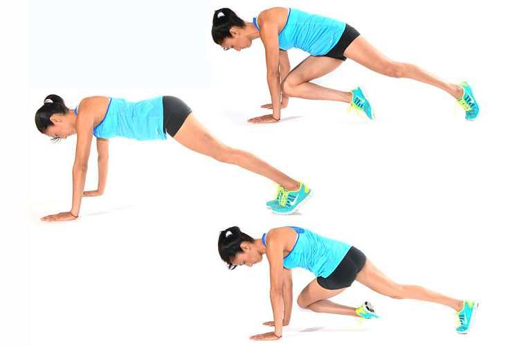 Упражнение скалолаз (альпинист): техника выполнения, работа мышц