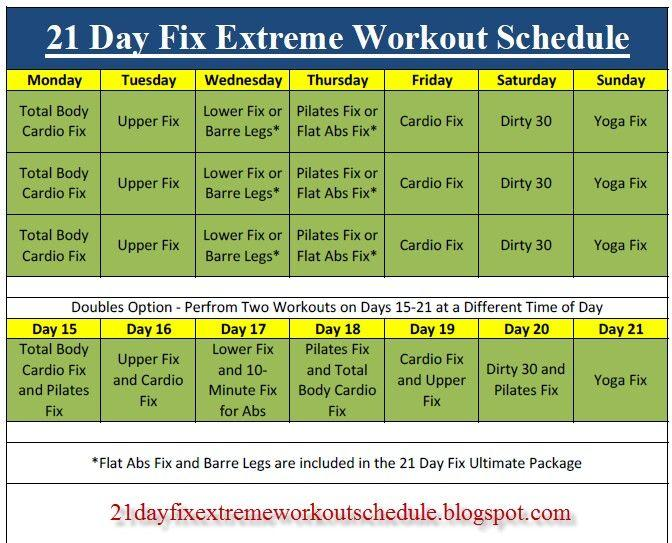 Fix extreme с отумн калабрес: подробное описание всех тренировок