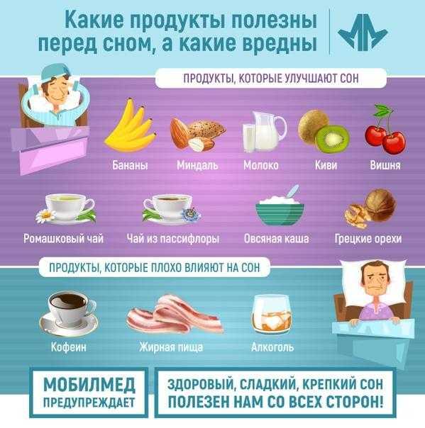 Какие продукты полезны перед сном, а какие вредны - лайфхакер