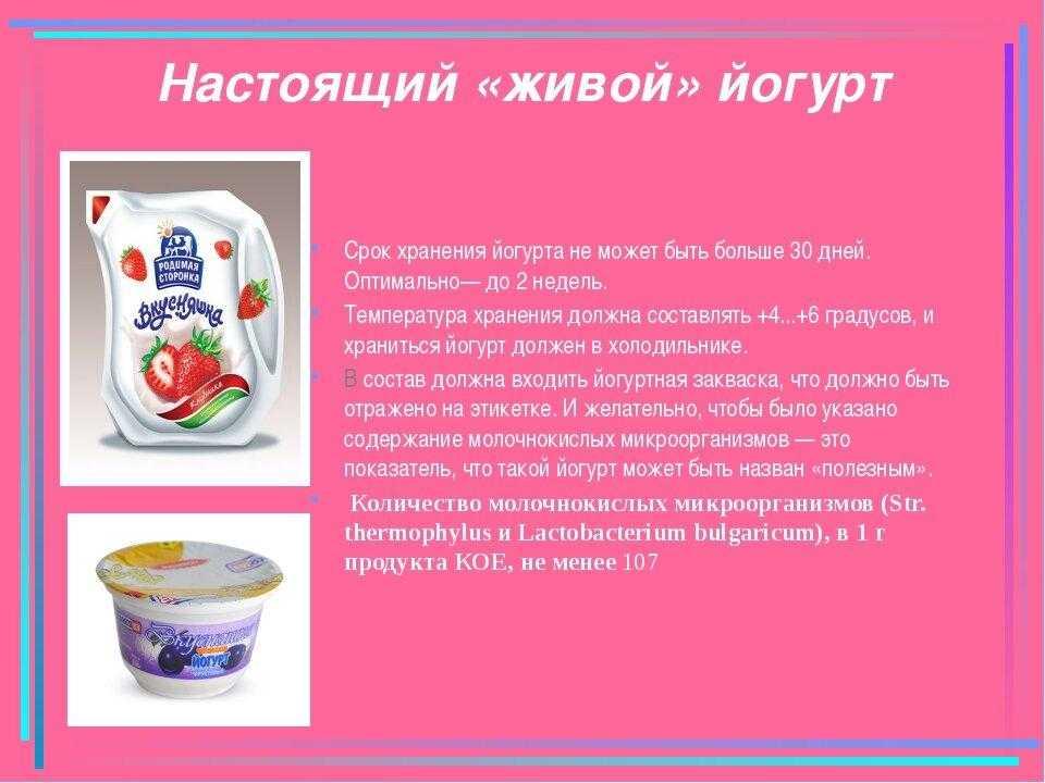 Польза и вред йогурта, состав, калорийность