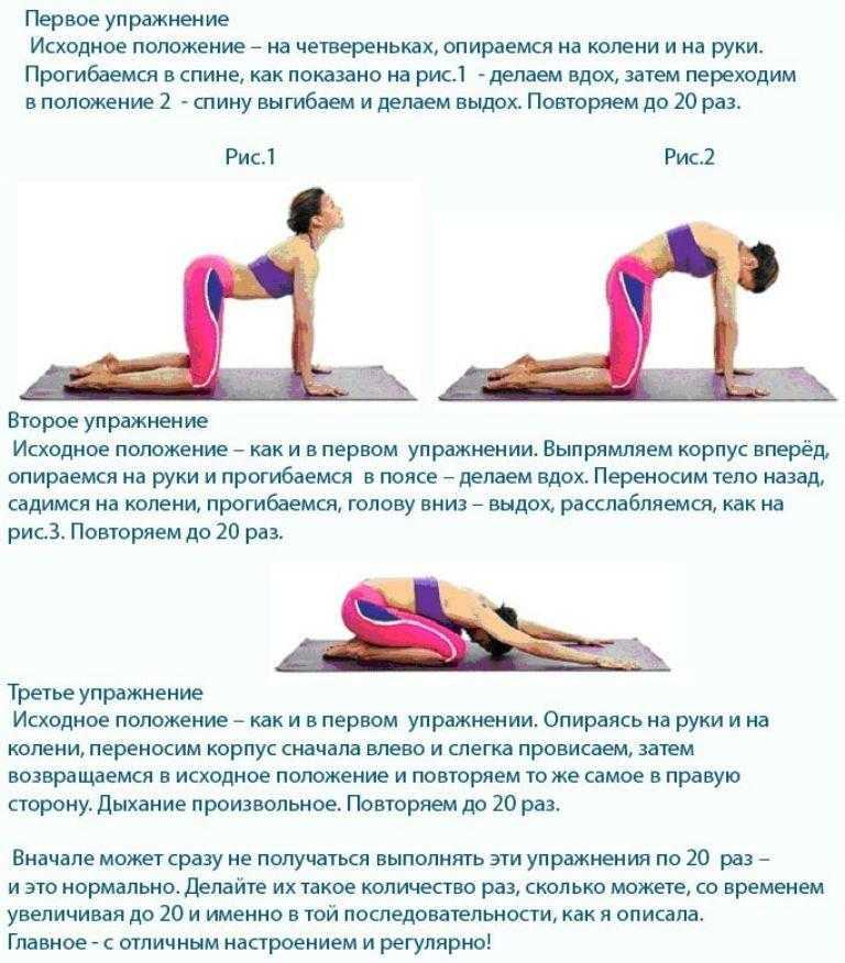 Лечебная гимнастика при остеохондрозе поясничного отдела позвоночника: комплексы физических упражнений