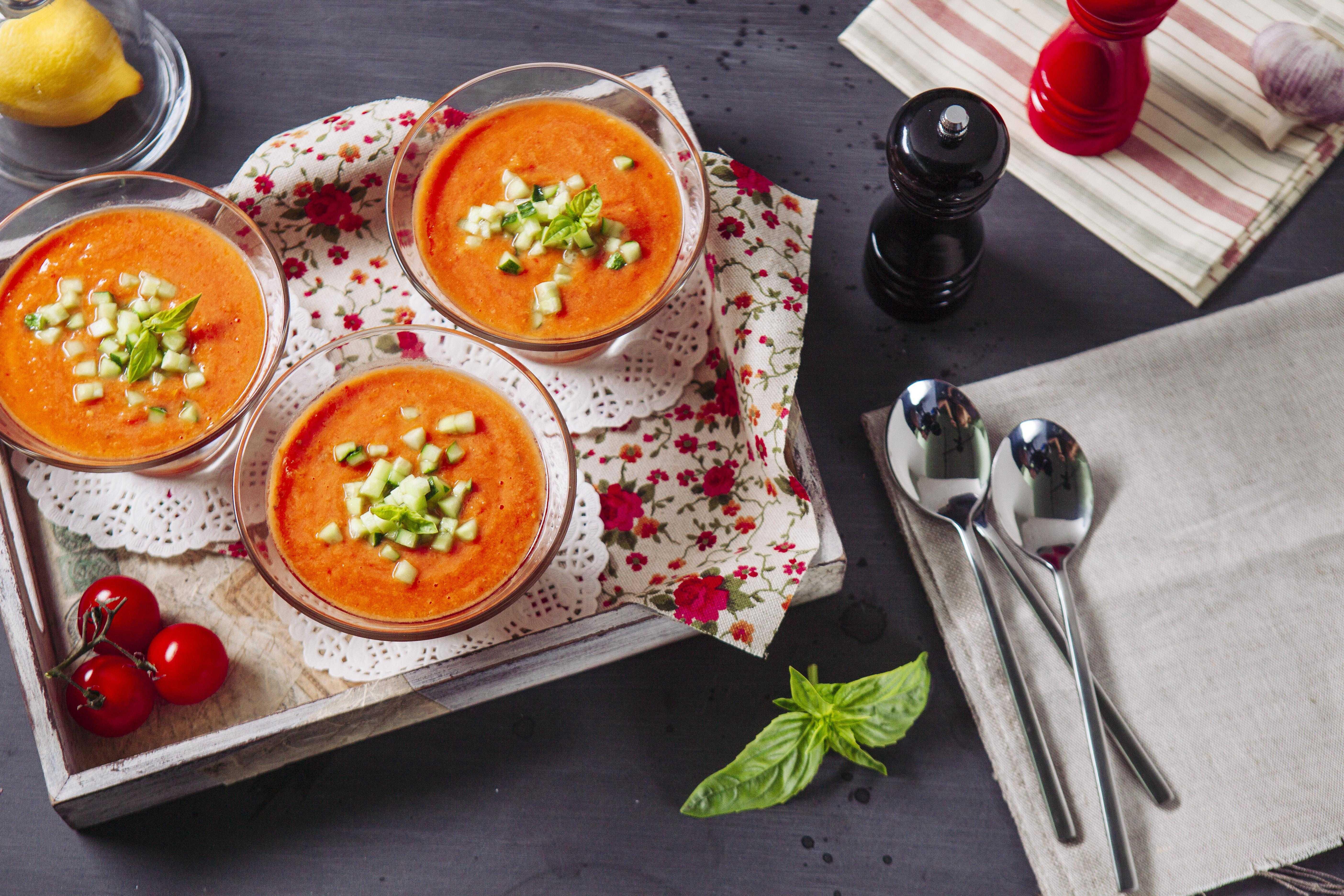 Гаспачо – классический рецепт из свежих томатов