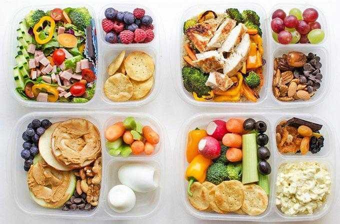 Перекусы при правильном питании