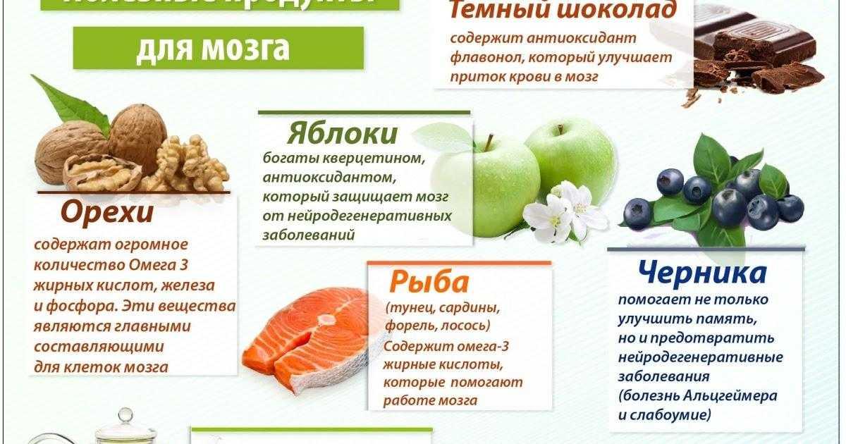 ? полезные продукты для мозга, улучшающие ум и память — топ 10   какой должна быть пища