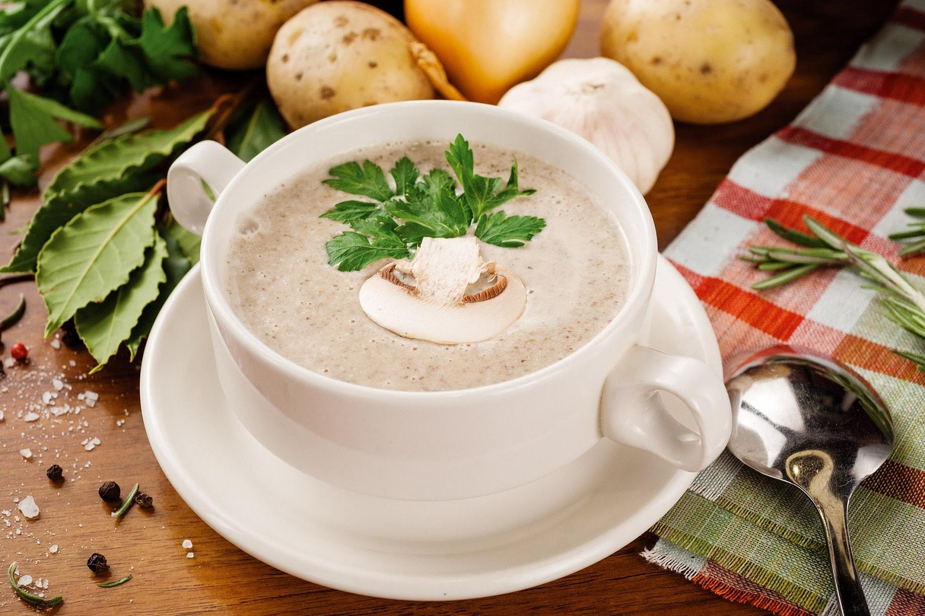 Грибной крем-суп Рецепты, связанные с здоровым образом жизни и питанием от интернет-журнала «»