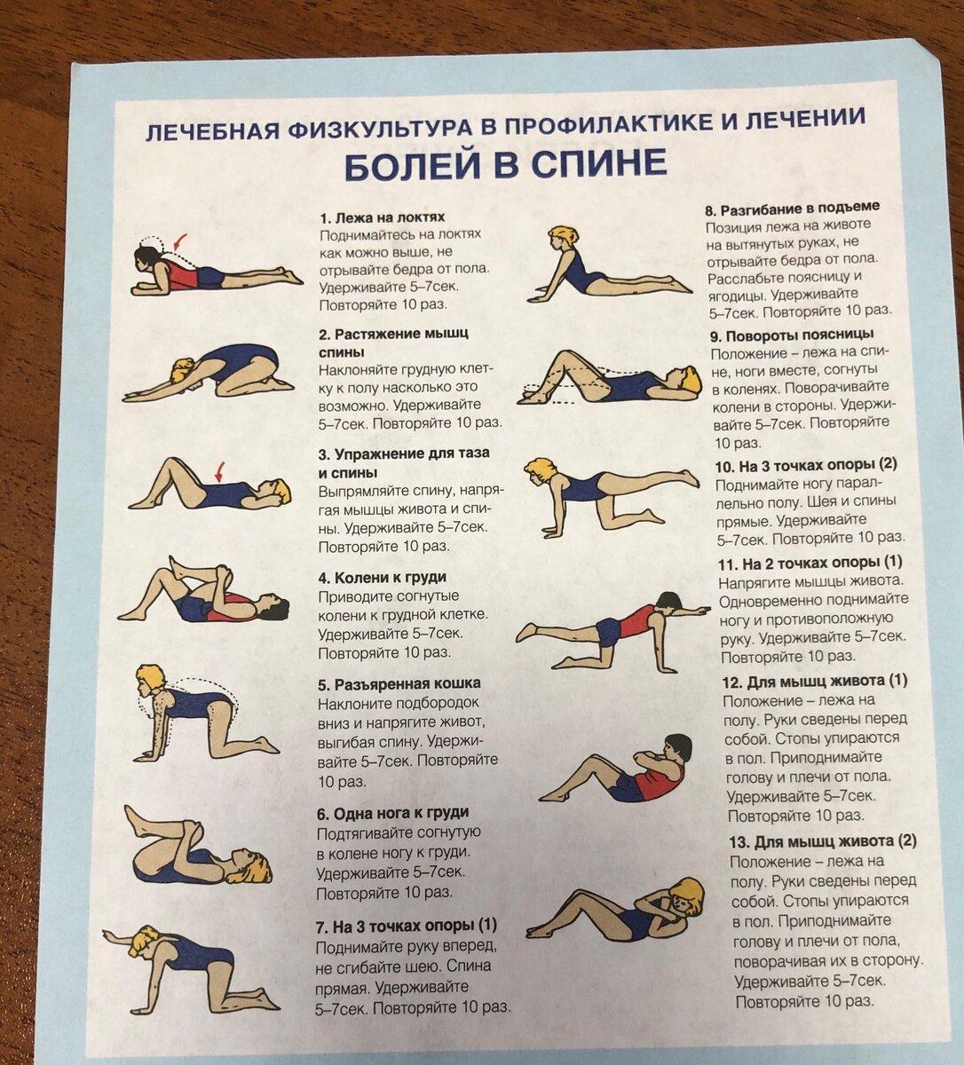 Качественная тренировка от боли в спине и пояснице