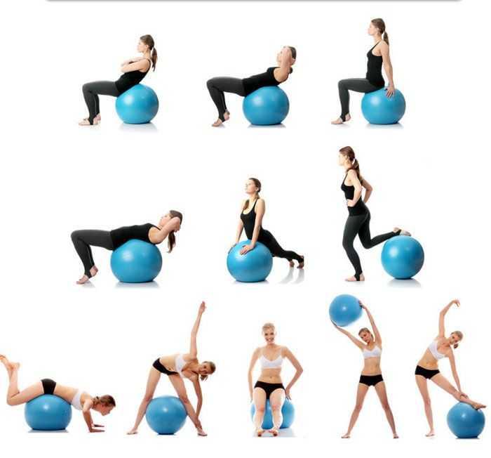 Комплекс упражнений на фитболе