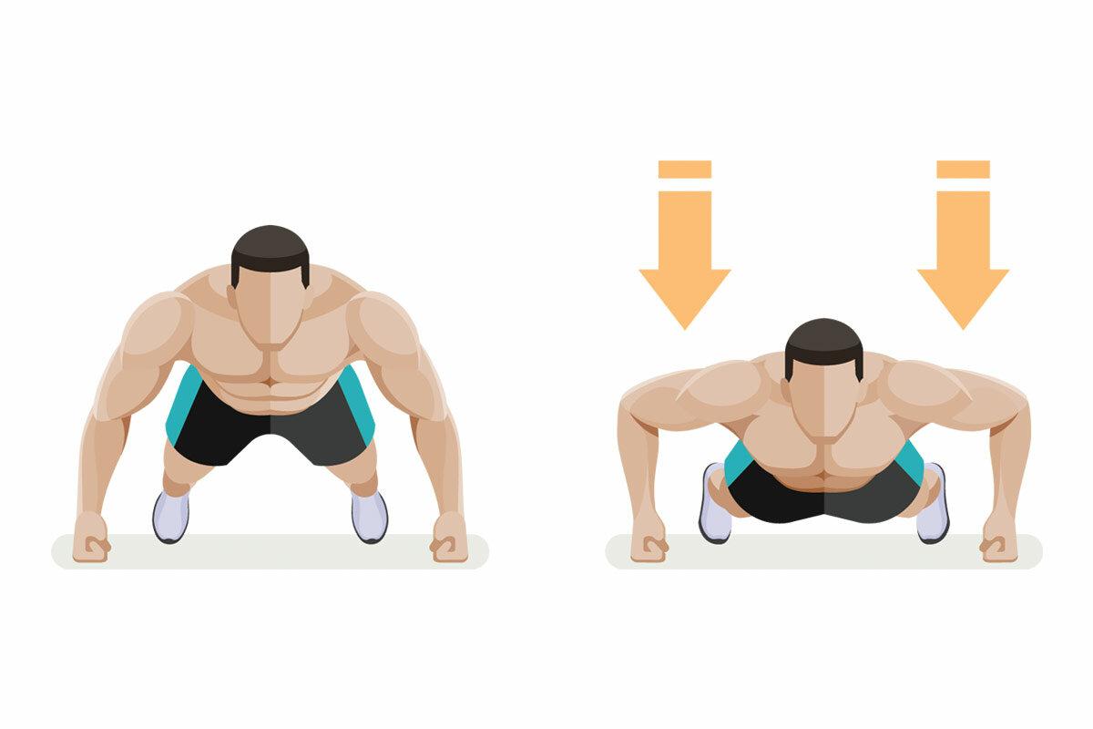Вертикальные отжимания в стойке на руках у стены: описание упражнения
