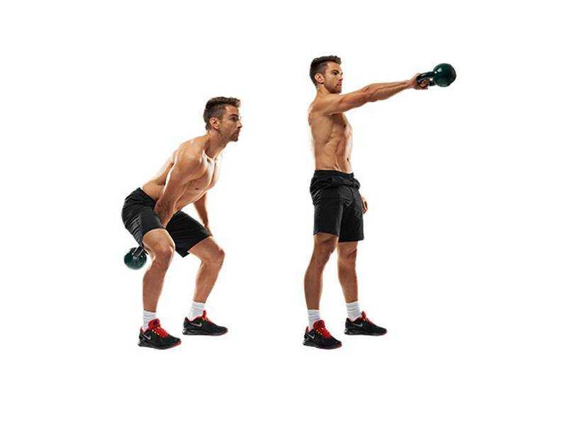 Выполняя махи гирей, вы не только укрепите мускулатуру бедер и ягодиц, но и достигните прогресса в традиционных силовых упражнениях Техника и рекомендации
