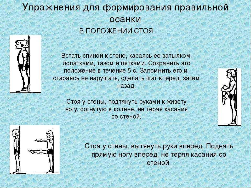 Физические упражнения и осанка человека