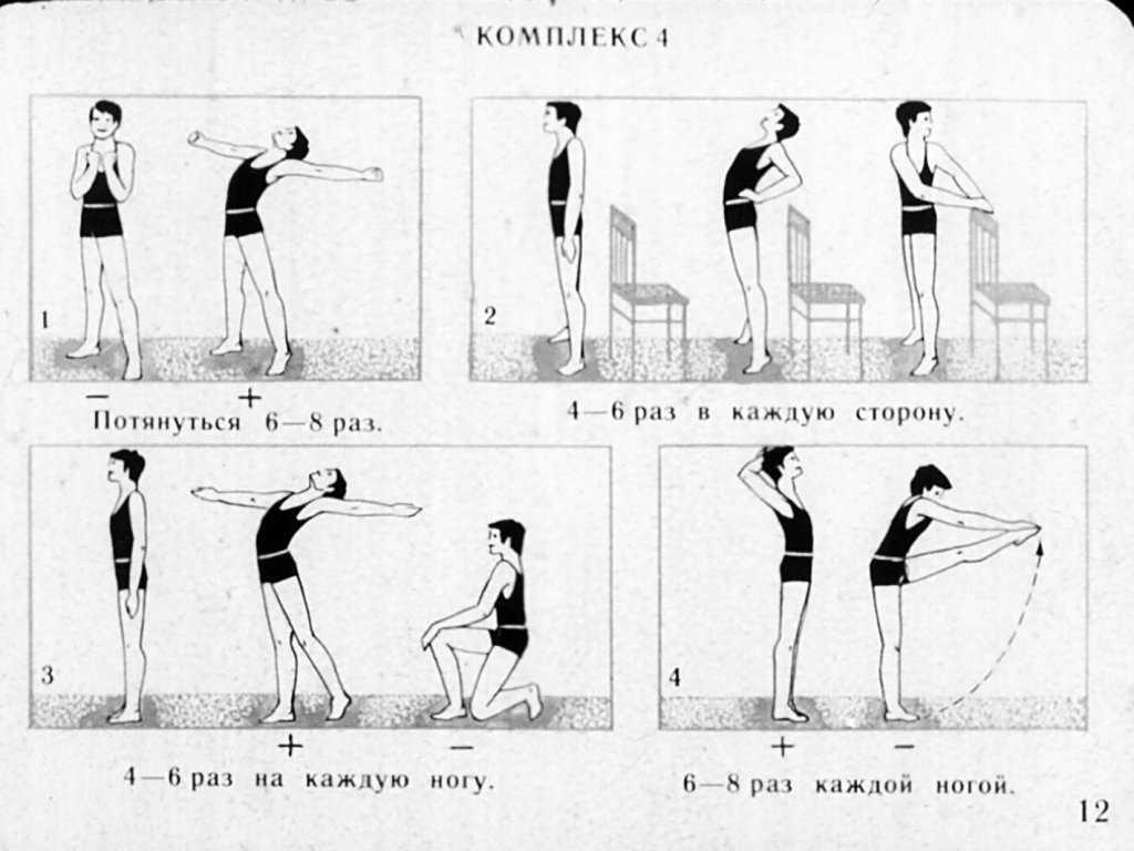 Комплекс упражнений для утренней зарядки