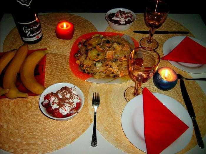 Романтический ужин своими руками для любимой