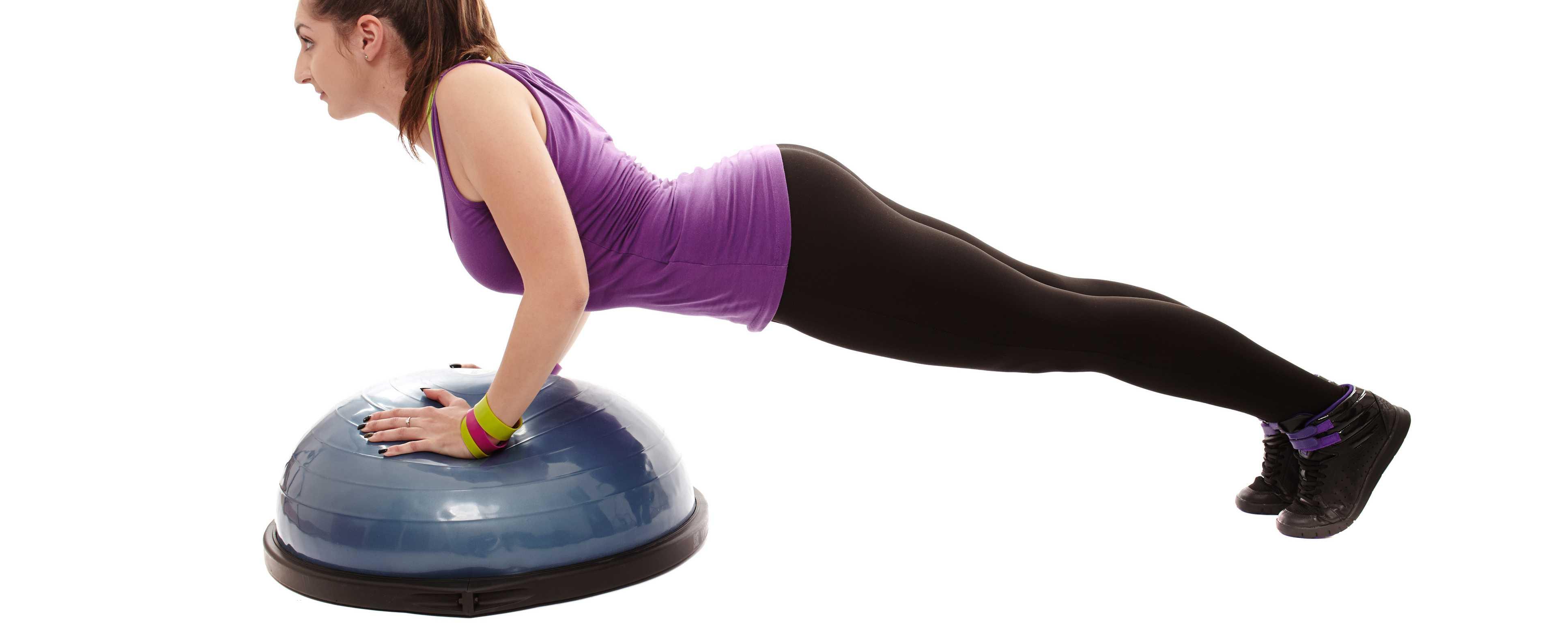 Фитнес полусфера bosu для эффективных тренировок