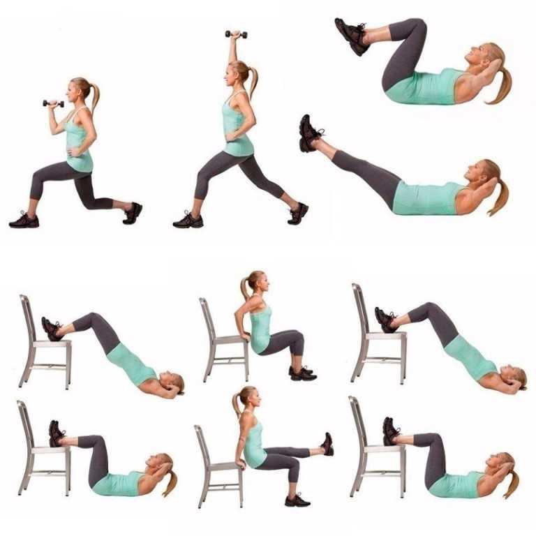 Топ-20 упражнений для похудения живота стоя: без прыжков, скручиваний и планок