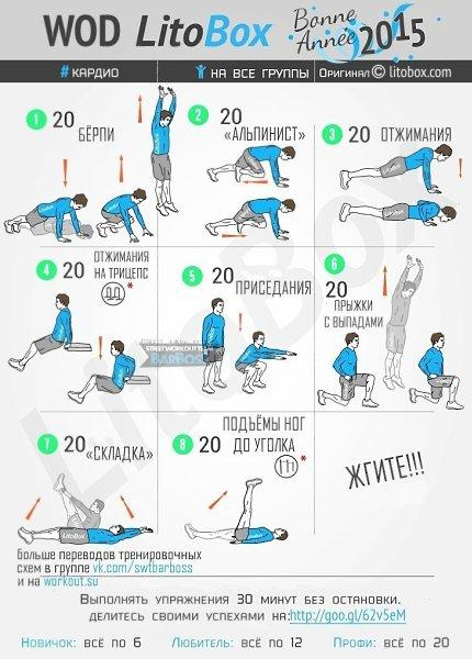 Час кардио, утренняя 15 минутная тренировка для сжигания жира, занятия на 10, 30, 40, 45, 60 минут, сколько нужно для похудения