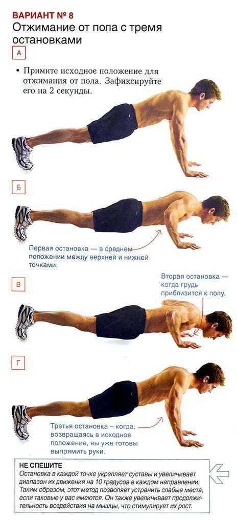 Отжимания под углом: с ногами на возвышении головой вниз и с руками на возвышенности головой вверх