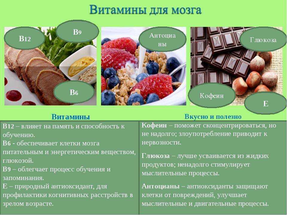 Продукты для улучшения памяти и работы мозга: еда в помощь
