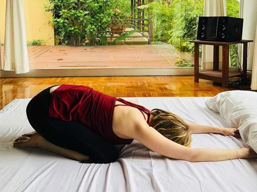 Йога перед сном для начинающих (для сна)