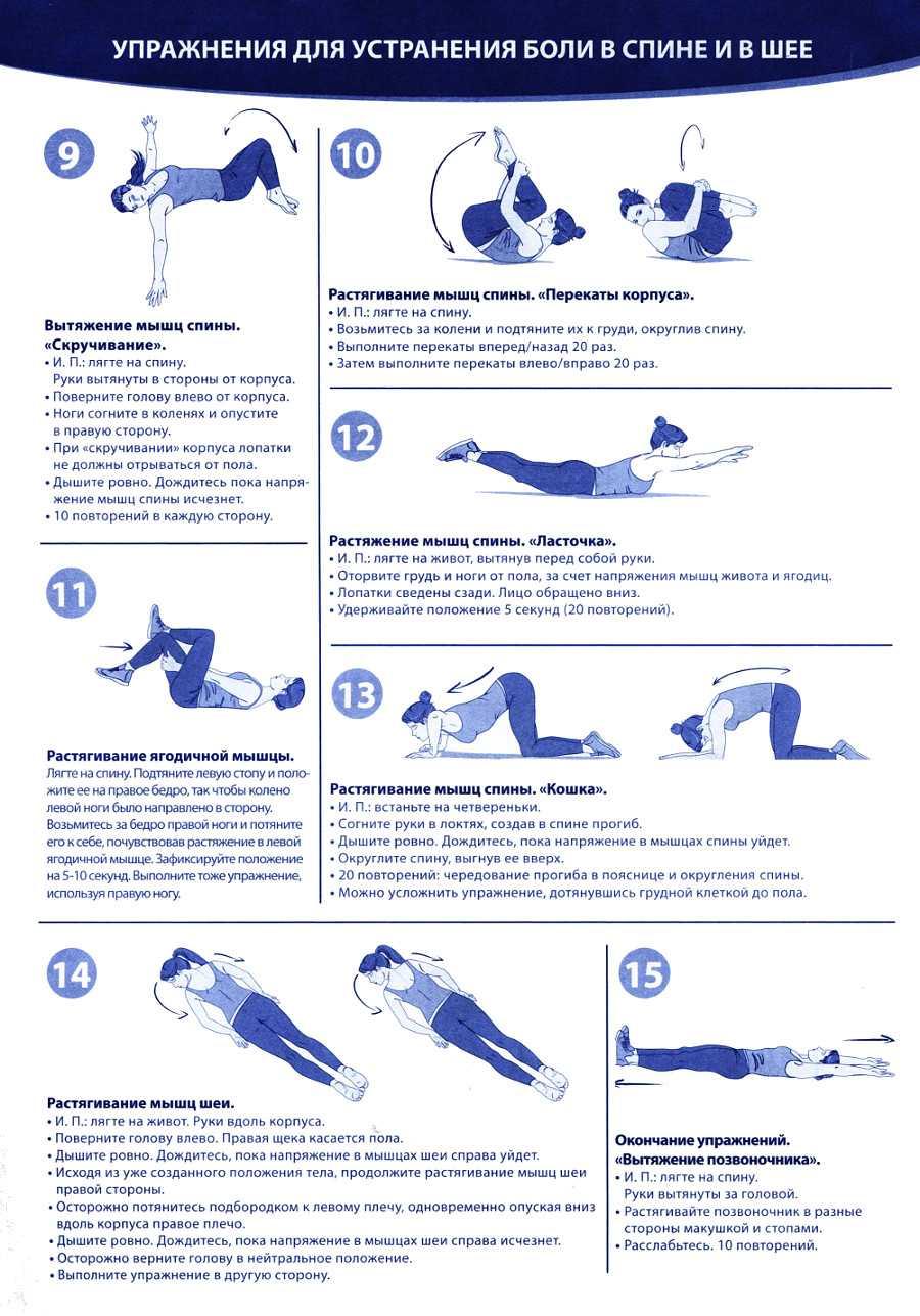 4 упражнения разминки для спины и гибкости позвоночника в домашних условиях