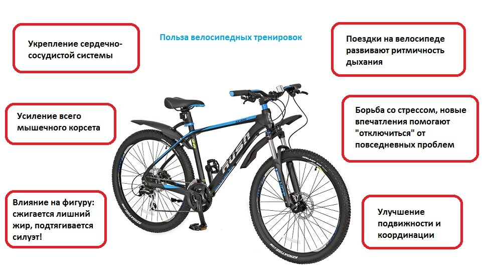 Езда на велосипеде для похудения, выносливости и здоровья сердца
