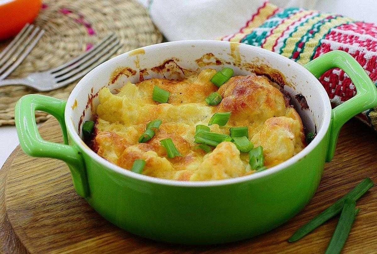 Рецепт с фото приготовления цветной капусты, запечёной в духовке