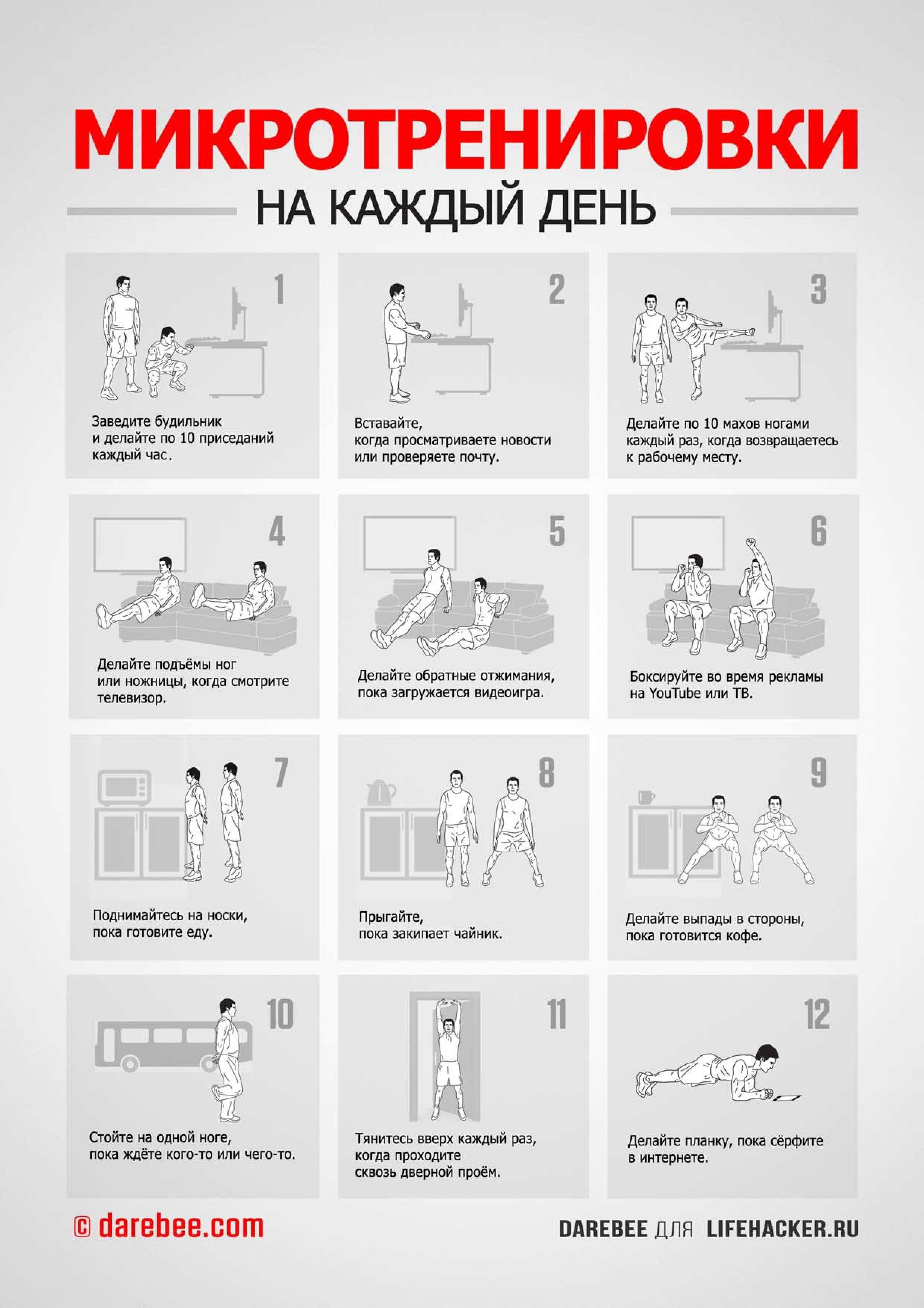 Как самому составить программу тренировок в тренажёрном зале