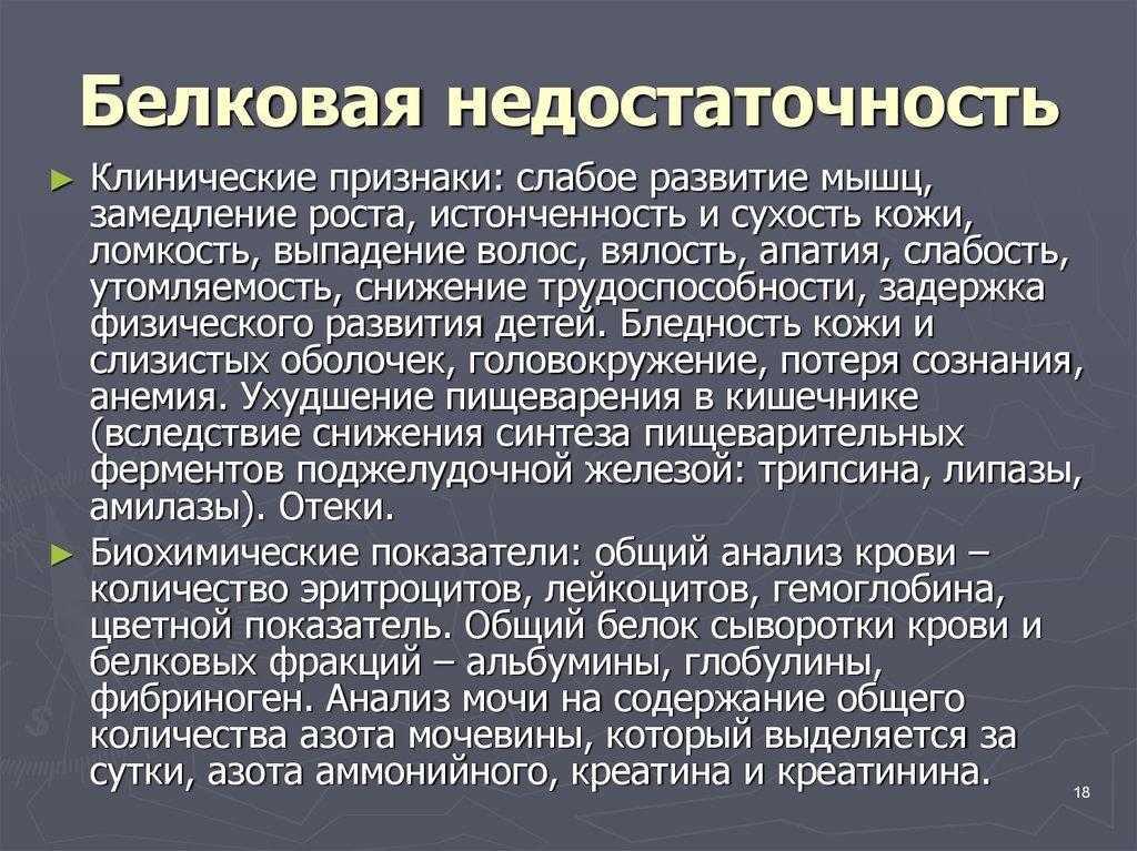 Симптомы дефицита белка в организме | promusculus.ru