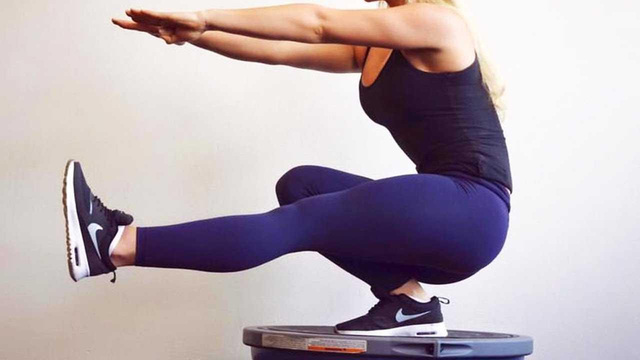 Приседания на одной ноге для похудения и накачки мышц