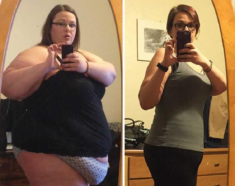 До похудения и после похудения