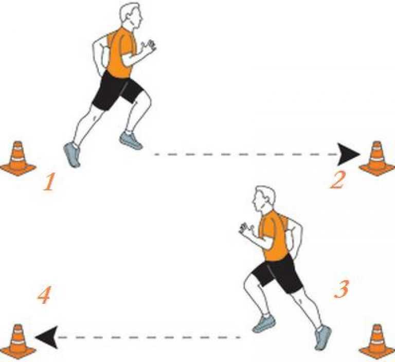 Техника и правила выполнения челночного бега 3х10