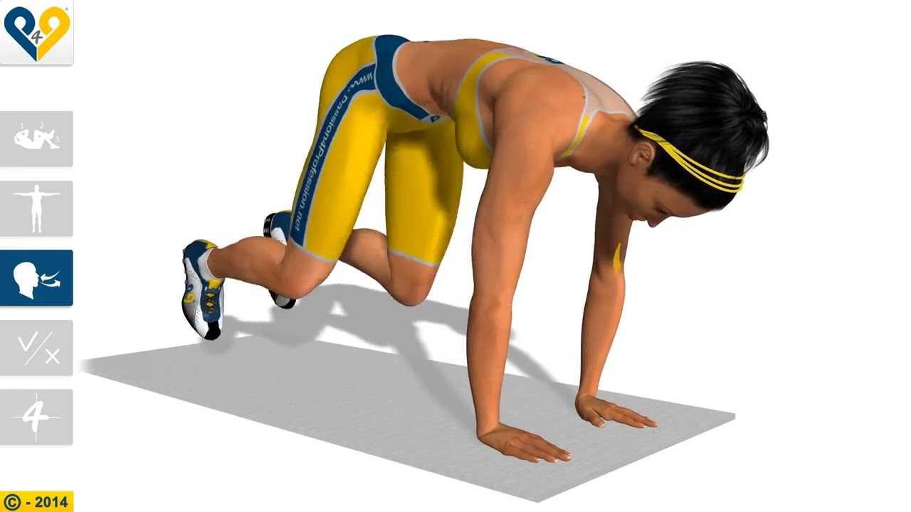 """""""скалолаз"""": принципы выполнения упражнения, особенности"""